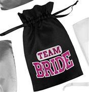 Sporty Team Bride Satin Favor Bag