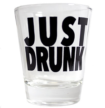 Just Drunk Shot Glass | Bridal Party Favors | RhinestoneSash.com