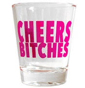 Cheers Bitches Shot Glass | Bridal Party Favors | RhinestoneSash.com