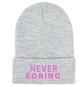 Never Boring Knit Beanie