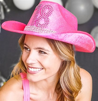 Electric Pink 18 Western Hat