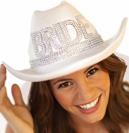 5a588201b2471 Western Gem Bride Hat w Veil - White · Larger Photo