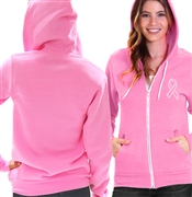Rhinestone Cancer Ribbon Fleece Hoodie | RhinestoneSash.com