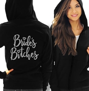 Bride's Bitches with Diamond Rhinestone Lightweight Hoodie