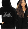 Flirty Bride's Entourage Lightweight Hoodie