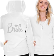 Bride w/Diamond Rhinestone Fleece Hoodie