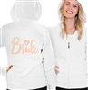 Bride w/Diamond Rose Gold Fleece Hoodie