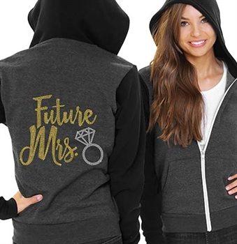 Future Mrs. w/Ring Fleece Hoodie