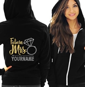 Future Mrs. Custom Foil & Rhinestone Fleece Hoodie
