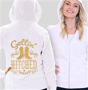 Gettin Hitched Rhinestud & Glitter Fleece Hoodie