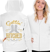 Gettin Hitched Gold & Silver Foil Fleece Hoodie