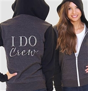 I Do Crew Modern Fleece Hoodie: Charcoal & Black