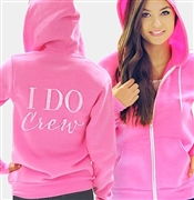 I Do Crew Modern Fleece Hoodie: Electric Pink