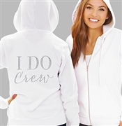 I Do Crew Modern Fleece Hoodie: White