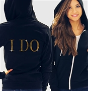 I Do Modern Fleece Hoodie: Black