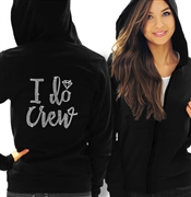 I Do Crew Diamond Rhinestone Lightweight Hoodie