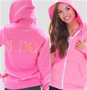 I Do Modern Fleece Hoodie: Electric Pink