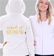 Maid Of Honor Modern Fleece Hoodie: White