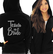 Team Bride Diamond Rhinestone Lightweight Hoodie