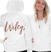 Bride w/Diamond Rhinestud Fleece Hoodie