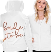 Bride To Be Rose Gold Fleece Hoodie | Bridal Hoodies | RhinestoneSash.com