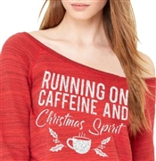 Running On Caffeine And Christmas Spirit Fleece Top