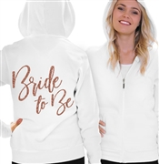 Bride To Be Rhinestone Fleece Hoodie | Bridal Hoodies | RhinestoneSash.com