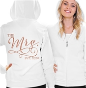 The Mrs. EST 2018 Rose Gold Fleece Hoodie