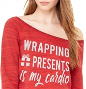 Wrapping Presents Is My Cardio Fleece Top