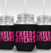 Cheers Bitches Sipping Jar