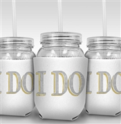 I Do Modern Sipping Jar - Bachelorette Party Favor