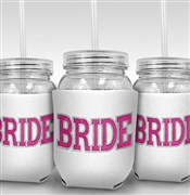 Sporty Bride Sipping Jar