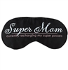 Super Mom Black with White Piping Sleep Mask