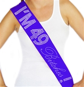 """I'm 49 Bitches!"" Rhinestone Sash 