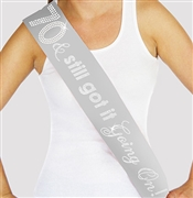 """70 & Still Got It Going On"" Rhinestone Sash 