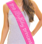 The Birthday Princess Rhinestone Sash