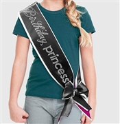 Birthday Princess Rhinestone Sash | Premium Birthday Sashes | RhinestoneSash.com