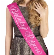 Birthday Princess Rhinestone Sash
