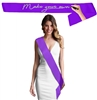 Blank Purple Satin Premium Sash