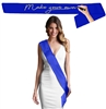 Blank Royal Blue Satin Premium Sash