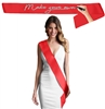 Blank Red Satin Premium Sash