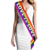 Love is Love Glitter Sashh | Bridal Sashes | RhinestoneSash.com