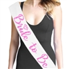 Bride to Be Pink Glitter Sash