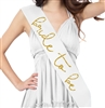 Lovely Bride to Be Gold Glitter Sash | Bridal Sashes | RhinestoneSash.com