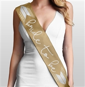 Bride to Be with Chevron Sash | Bridal Sashes | RhinestoneSash.com