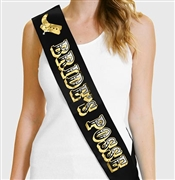 Bride's Posse Glitter & Foil Bachelorette Sash | Bridal Sashes