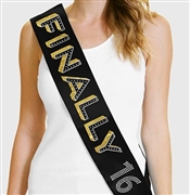 Finally 16 Birthday Sash | 16th Birthday Sash