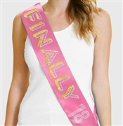 Finally 18 Birthday Sash