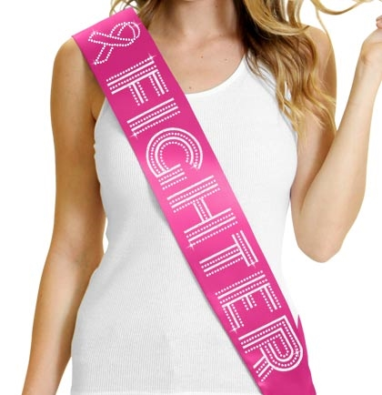 'Fighter' Cancer Awareness Sash with Ribbon