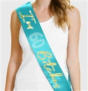 I'm 60 Bitches Gold Foil & Rhinestone Sash | Birthday Sashes | RhinestoneSash.com